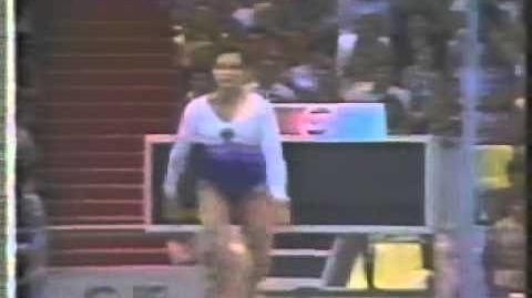 Elena Shushunova USSR RUS Vault2 1986 Goodwill Games EF 1st m80s