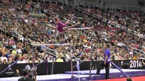 Ashton Locklear - Uneven Bars - 2014 P&G Championships - Sr. Women Day 1