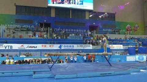 Andreea Munteanu (ROU). 2014 World Gymnastics Championships. BB TF.