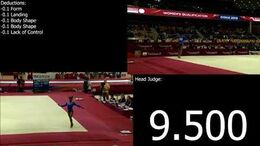 2017-2020 COP E-Score Simone Biles (USA) Floor Team Qual 2018 Doha World Championships