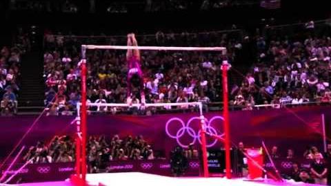 Gabby Douglas- Uneven Bars, All Around Final, London Olympics 2012.