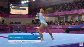 Flavia Saraiva Floor Pan American Games Event Finals 2019