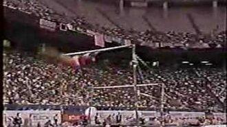 Henrietta Onodi - 1991 Worlds EF - Uneven Bars