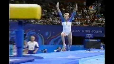 Svetlana Khorkina (RUS) TF 2000 Olympics VT