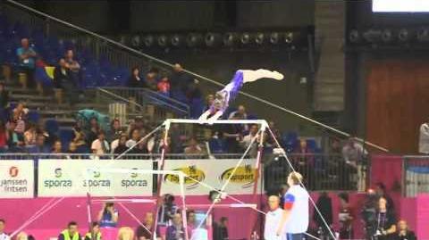 Anastasia GRISHINA RUS, Bars, Team Final, European Gymnastics Championships 2012