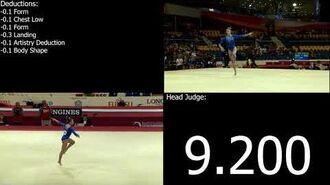 2017-2020 COP E-Score Grace McCallum (USA) Floor Team Prelims 2018 Doha World Championships