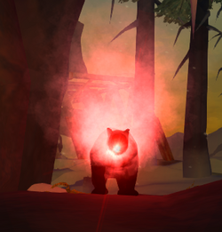 Bear shot with flare