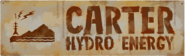 Carter hydro dam sign