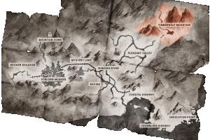 Locator map Timberwolf Mountain