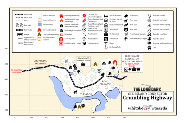 Image  Crumbling Highway map by whiteberrytoardapng  The Long