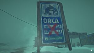 Orca Gas Station sign