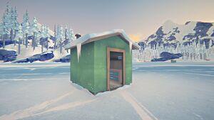 Fishing hut outside