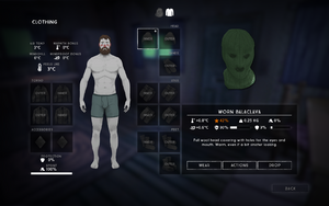 Balaclava clothing interface