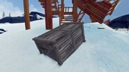 Destroyed lookout supply crate