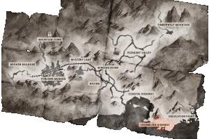 Locator map Crumbling Highway