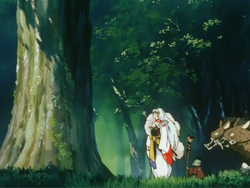 Sesshomaru stands before Bokuseno