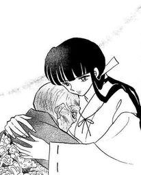 Hakushin was hugged by kikyo