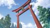Higurashi shrine torii