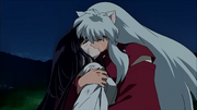 Inuyasha and Kikyo Final Kiss