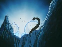 Ryukotsusei bombards Inuyasha