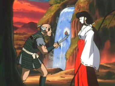 Rasetsu asaltando a Kikyo