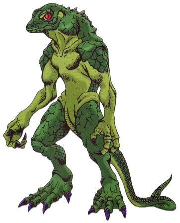 Akumajo Dracula Mokushiroku Art Lizard Man 1