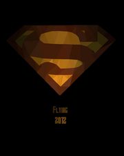 Polygonal Superman Poster