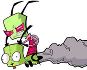 Invader Zim and GIR by SpyroGirl101