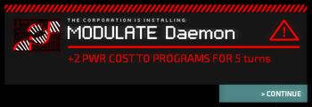 Daemon Install Warning