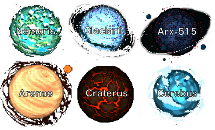 All Planets with Text