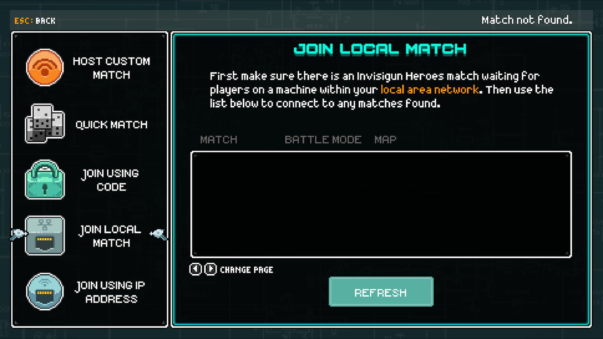 Join a Local LAN Match