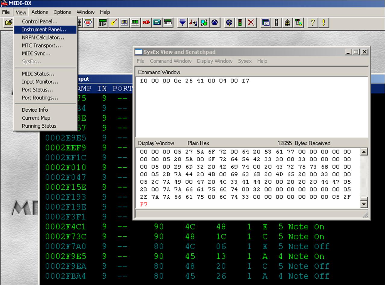 Edit Sysex File