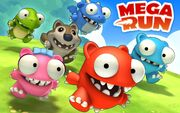 Mega run title screen