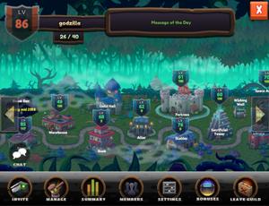 Guild Home Screen