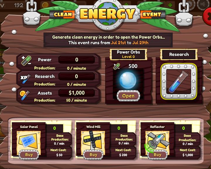 Clean Energy Event | Idle Online Universe Wiki | FANDOM