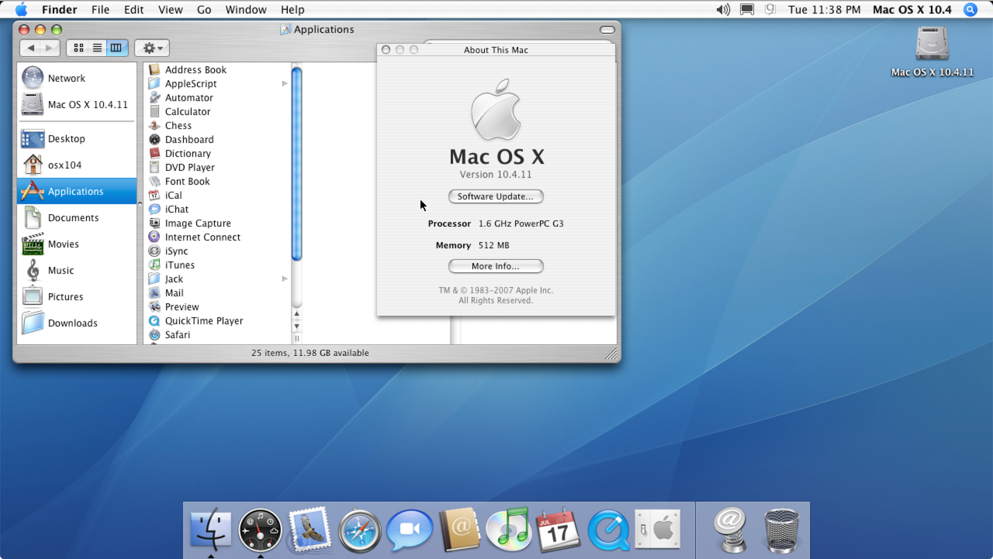 Mac OS X 10 4 | Apple Wiki | FANDOM powered by Wikia