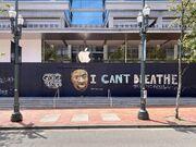 Apple Pioneer Place boarded 2020-06-02 Floyd mural