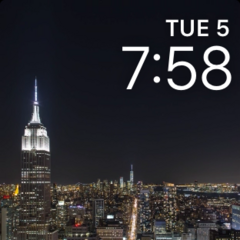 Timelapse New York City Watch Face