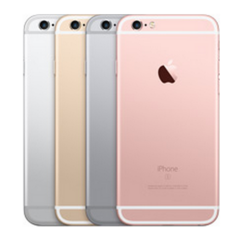 iPhone 6s in Silver, Gold, Space Gray, and Rose Gold.