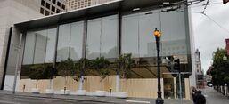 Apple Union Square boarded 2020-05-31