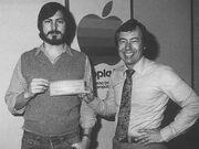 Steve Jobs and Mike Markkula at Apple