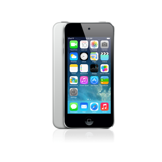 The 5th-Generation iPod Touch, 16GB Silver Edition.