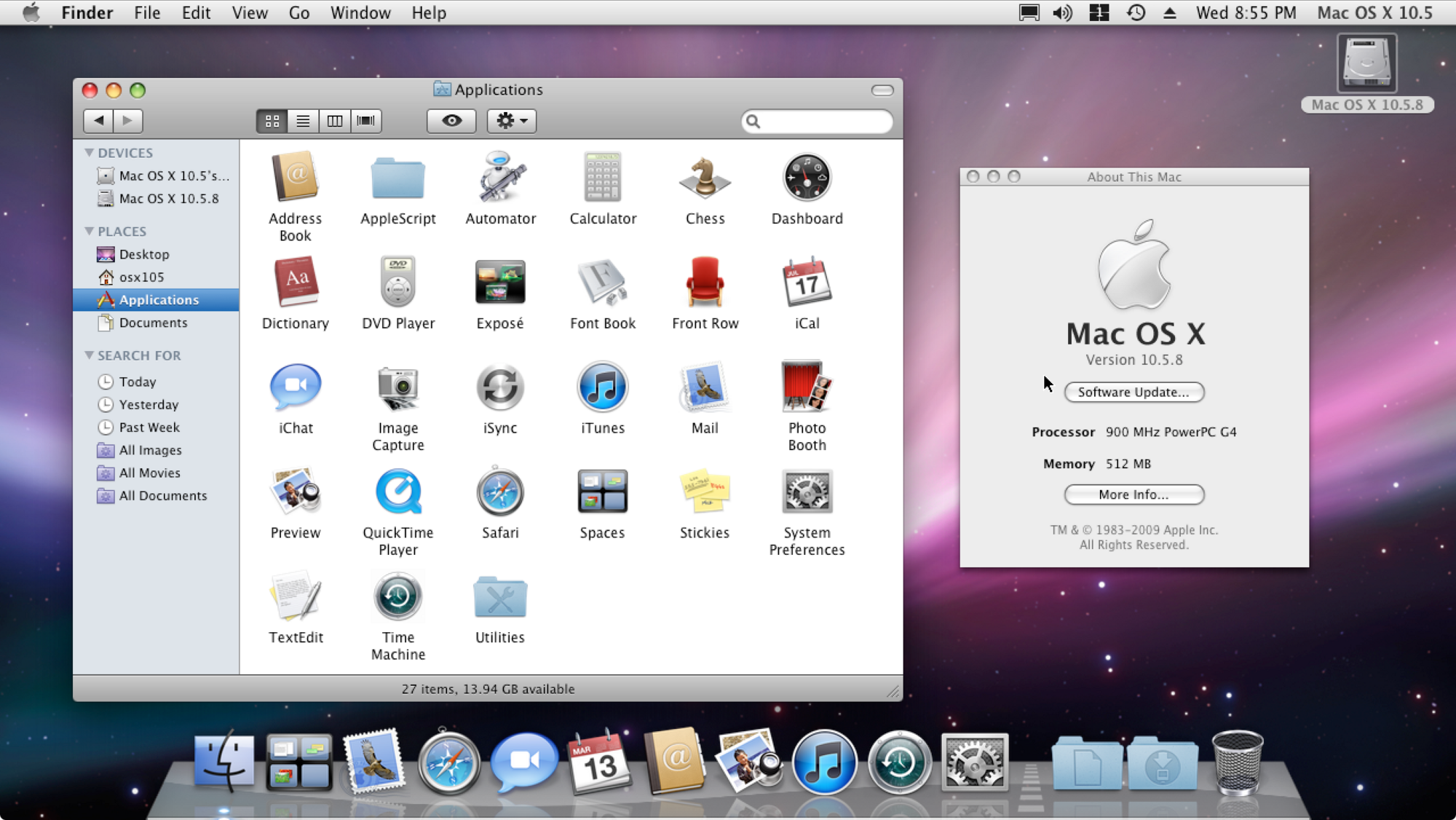 Mac OS X 10 5 | Apple Wiki | FANDOM powered by Wikia