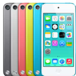 The 5th-Generation iPod Touch. In Space Gray, Silver, Red, Yellow and Blue.