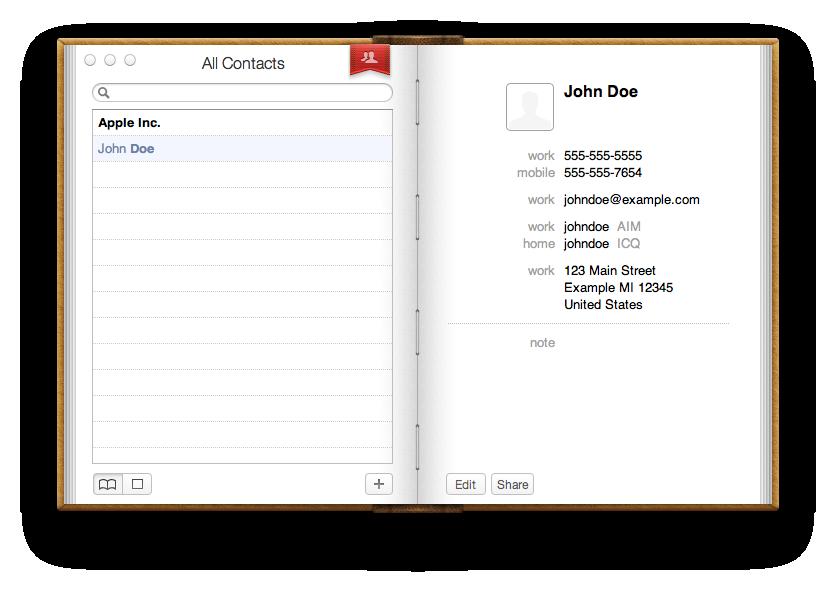 Mac apple address book for