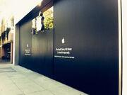 Apple 4th Street boarded 2014-05-10