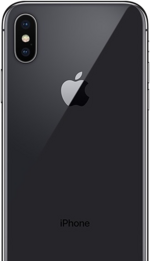 Space Gray iPhone X Rear