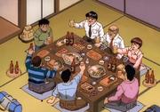 Everyone celebrating Ippo'a win against Sendō