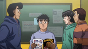 Ippo learning that Ricardo wants to spar with him