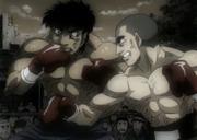 Dankichi fighting Kamogawa
